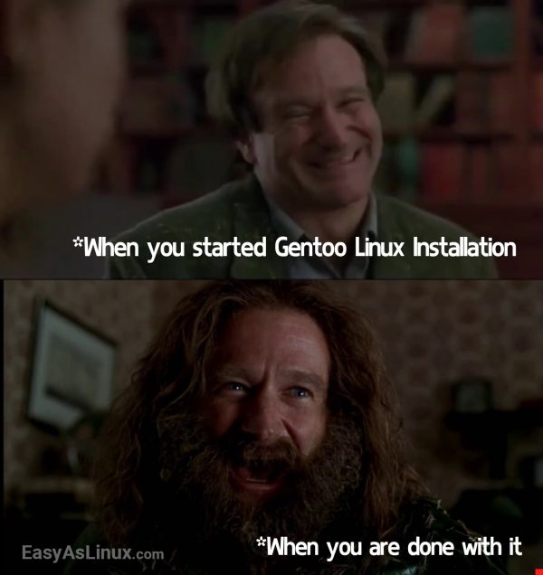 Damn .. Gentoo Linux installation is easy!