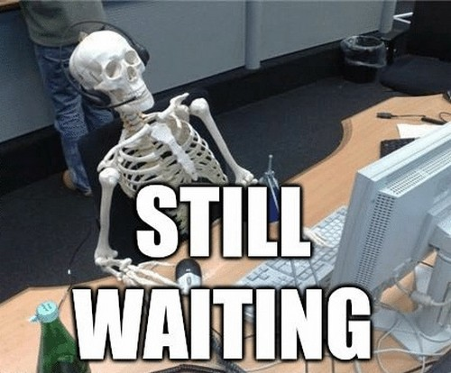 Sometimes waiting for a Jenkins job to complete be like forever